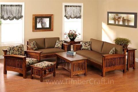 Teak Wood Sofa Set Wooden Sofa Designs Wooden Living Room Furniture Wooden Living Room