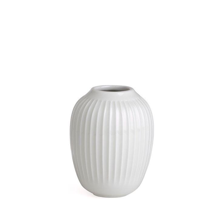 Hammershøi+Vase+H10cm,+Hvit,+Kähler