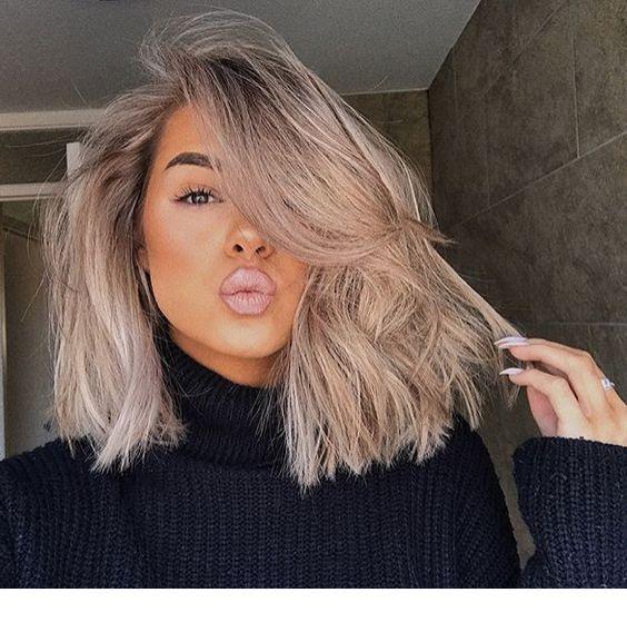 Pink ash hair tone and nice cut | Inspiring Ladies – #Ash #Cut #hair #inspiring …