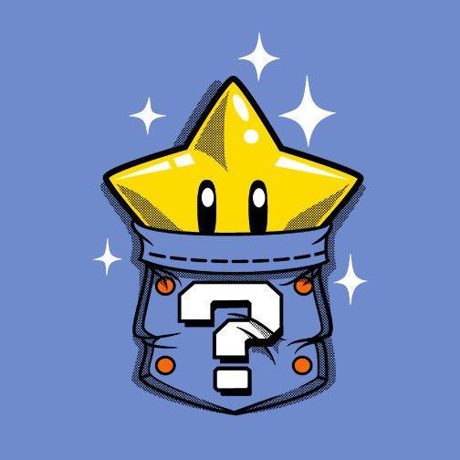 Pocket Star T-Shirt $12.99 Super Mario Bros tee at Pop Up Tee!