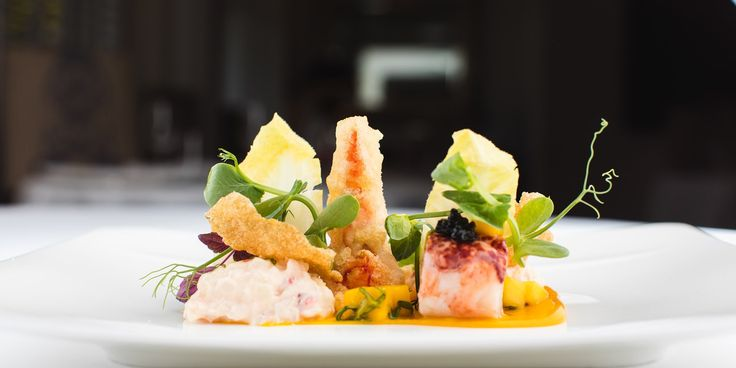 A delicious lobster salad recipe from chef Mark Jordan, complete with crispy tempura claws.