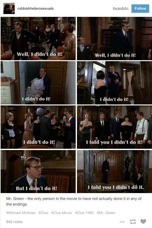 "And his defense was truly top-notch. | 22 Reasons Why ""Clue"" Is Your Favorite Movie"