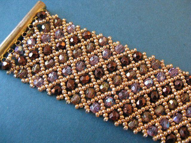 Lots of crystals bracelet by Cielo Design, via Flickr