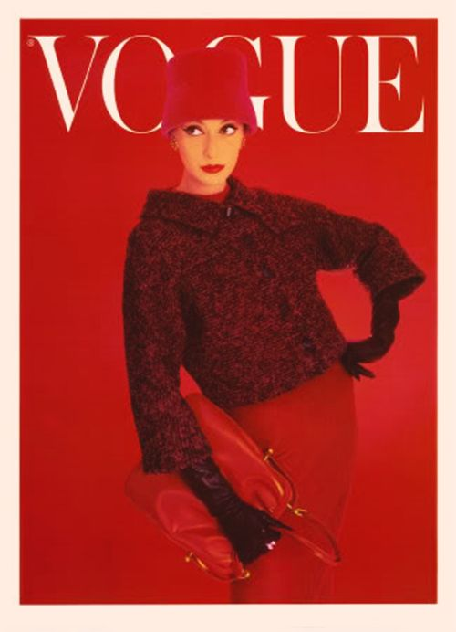 Vogue August 1956 — I love it when magazine design arrives at abstraction via saturation of color.