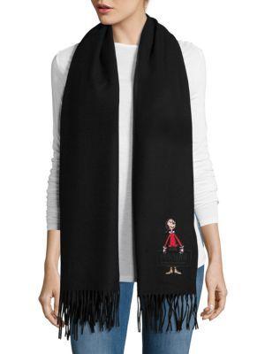 MOSCHINO Fringed Woolen Scarf. #moschino #scarf