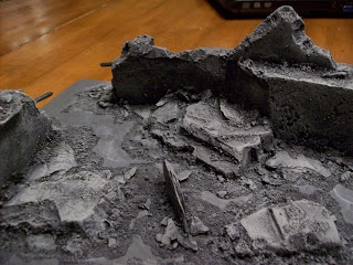 Terrain tutorial building ruins by using foam glue and glue, brilliant . How to detail & paint city ruins