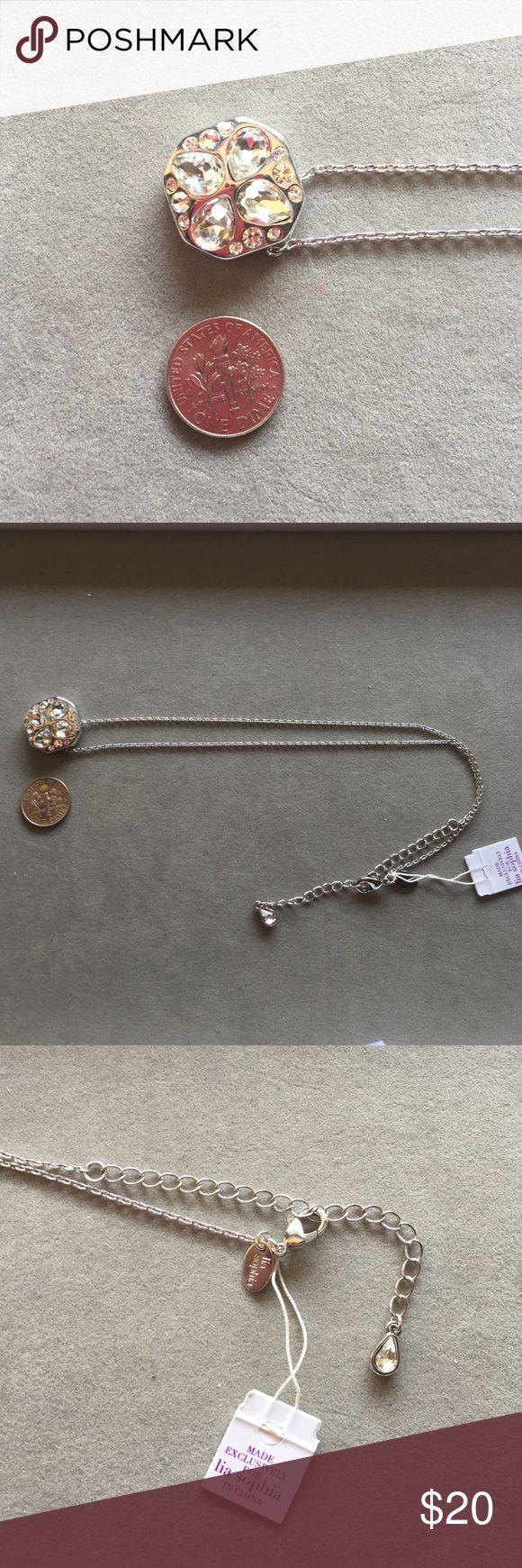 """Lia Sophia necklace Lia Sophia necklace. 16""""-19"""" chain. Lia Sophia Jewelry Necklaces"""