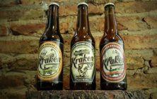 Diseño e ilustración de etiqueta para cerveza artesanal kraken. www.cervezakraken.com