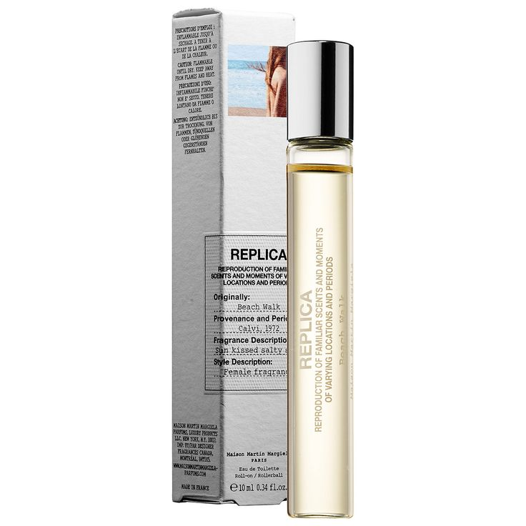 'REPLICA' Beach Walk Rollerball - MAISON MARTIN MARGIELA | Sephora Bergamot, coconut, lemon, pink pepper and musk. Must be super good!