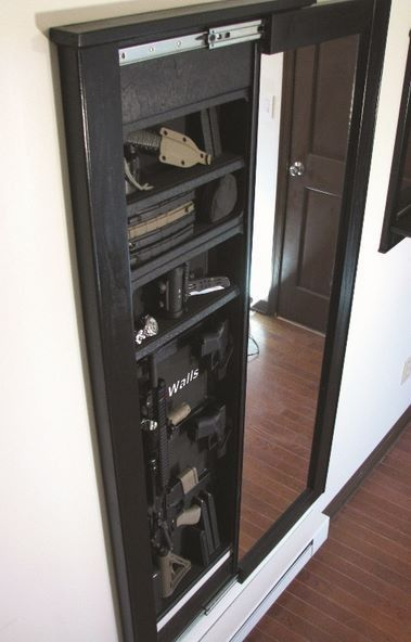 Wall Safe Mirror best 25+ hidden gun cabinets ideas on pinterest | gun safe diy