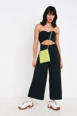 1d25819122c Check out UO Marley Black Strapless Cut-Out Jumpsuit from Urban Outfitters