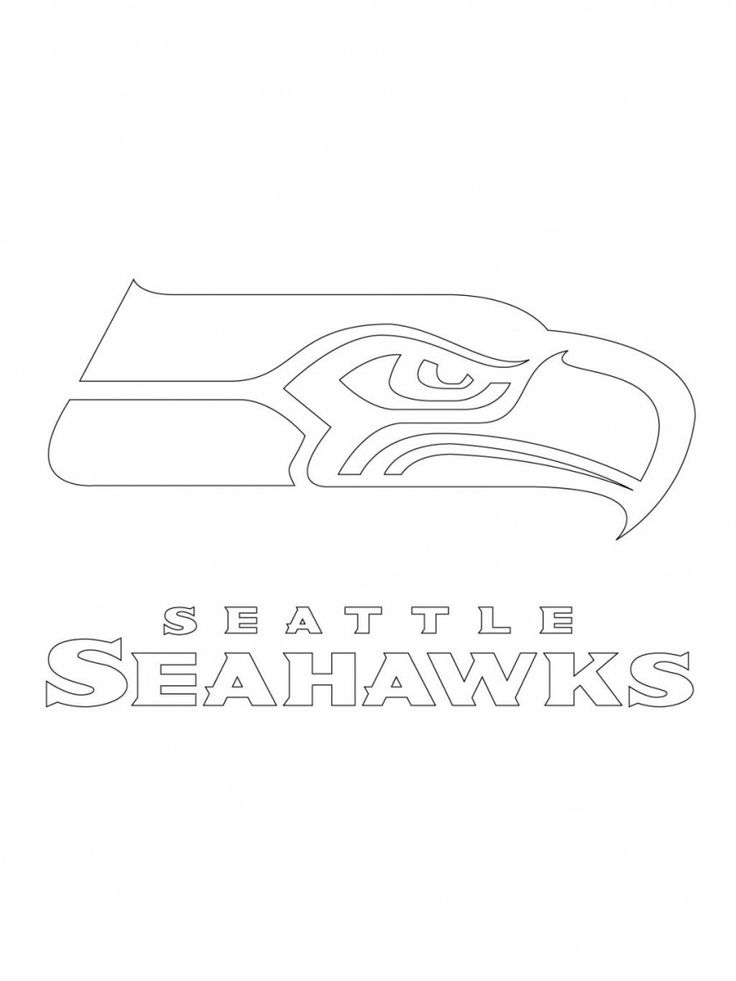 Seahawks printable logo google search stencils for Seahawks coloring page