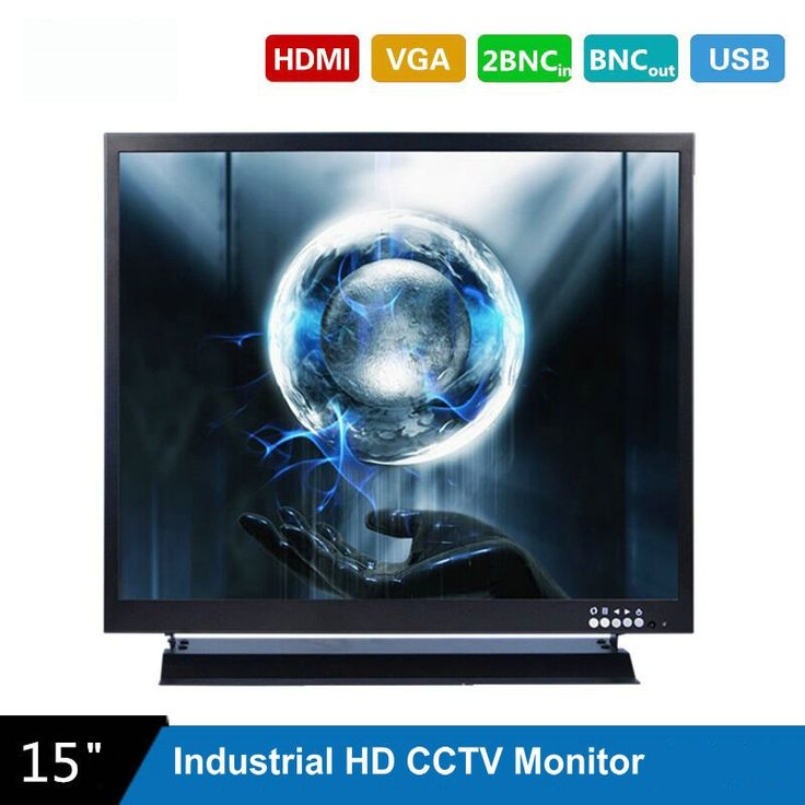 131.25$  Watch now - http://alisin.worldwells.pw/go.php?t=32789678985 - 15 Inch 1024X768 HD CCTV Monitor with Metal Shell & HDMI VGA AV BNC Connector for PC Multimedia & Donitor Display & Microscope