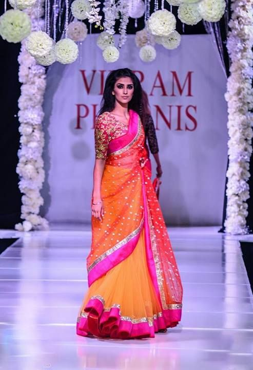 pink and orange dupatta