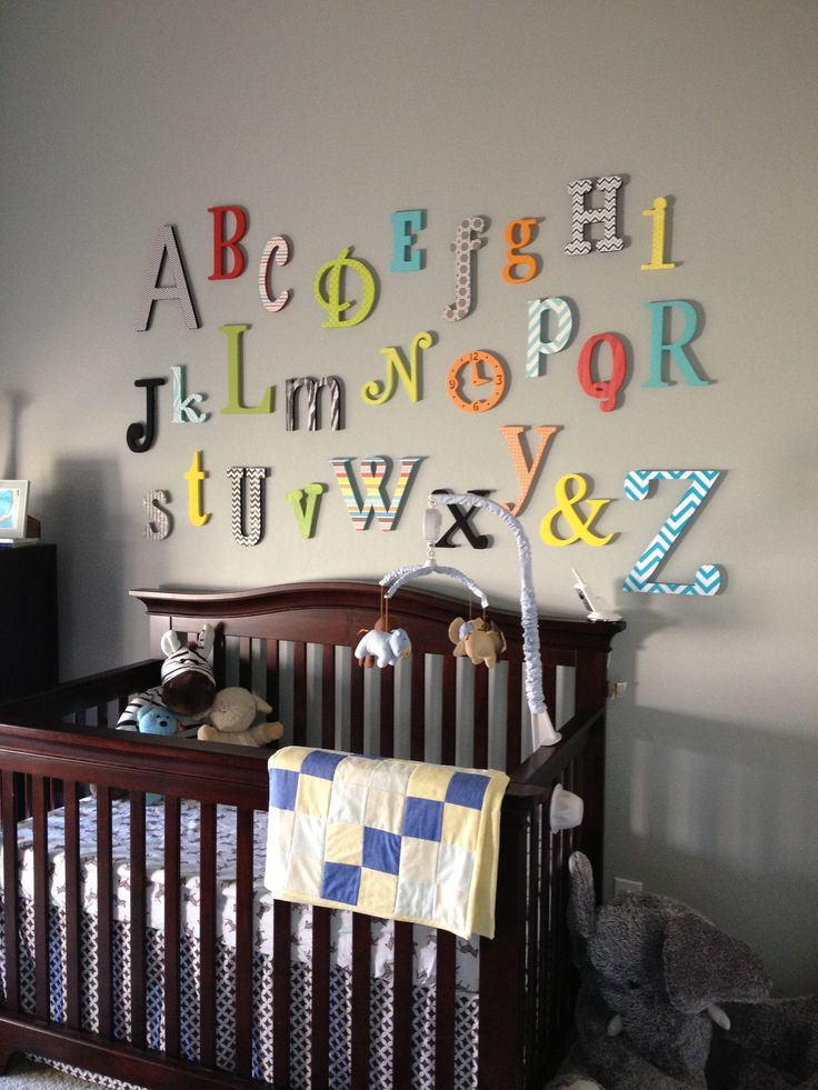 Alphabet Set Unpainted Wooden Letter Alphabet Wall