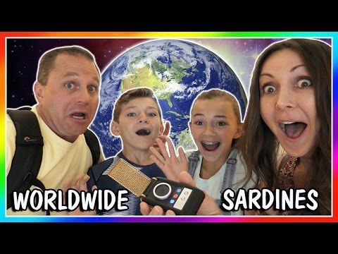 SARDINES AROUND THE WORLD! | HIDE AND SEEK | We Are The Davises - YouTube