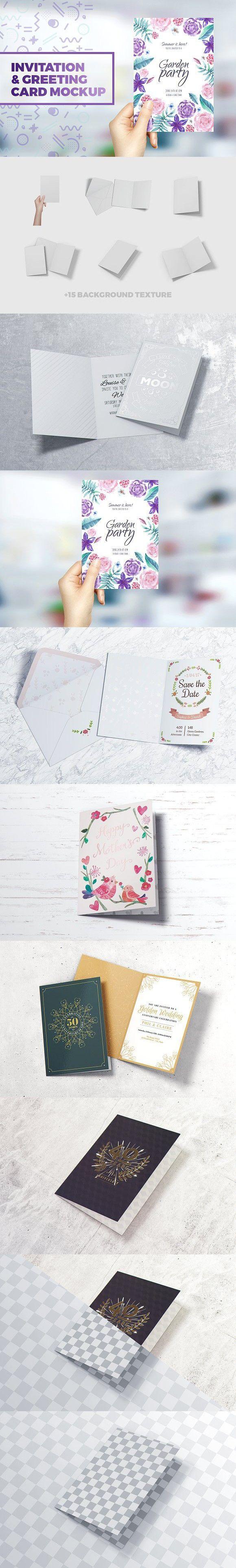 Invitation & Greeting Card Mockup. Wedding Card Templates
