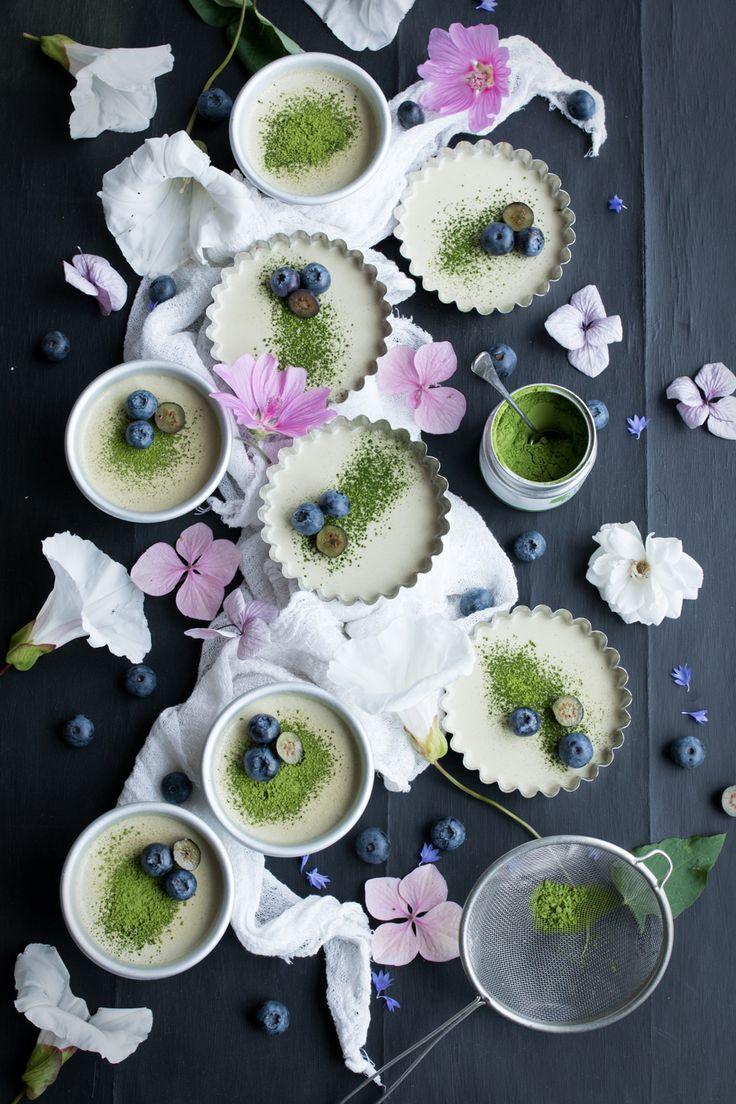 Vegan Matcha Panna Cotta for Green Leaf Matcha - The Little Plantation Blog