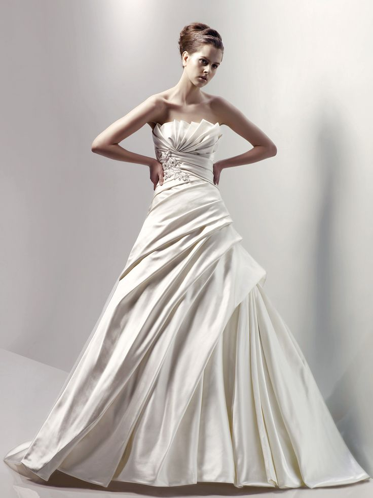 Blue By Enzoani Canberra Ivory Satin Wedding Gown
