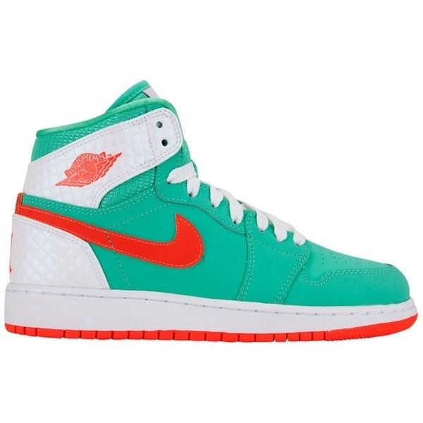 Air Jordan Kids 1 Retro High Grade School ($95) ❤ liked on Polyvore featuring nike, sneakers, jordans and shoes