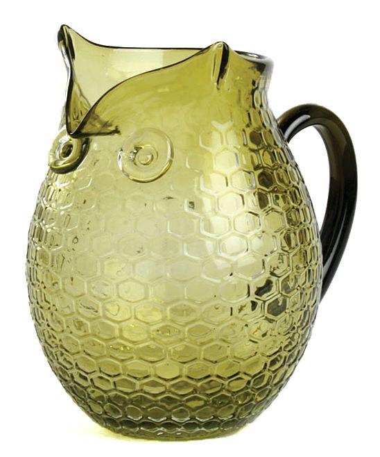 Glass Owl Pitcher
