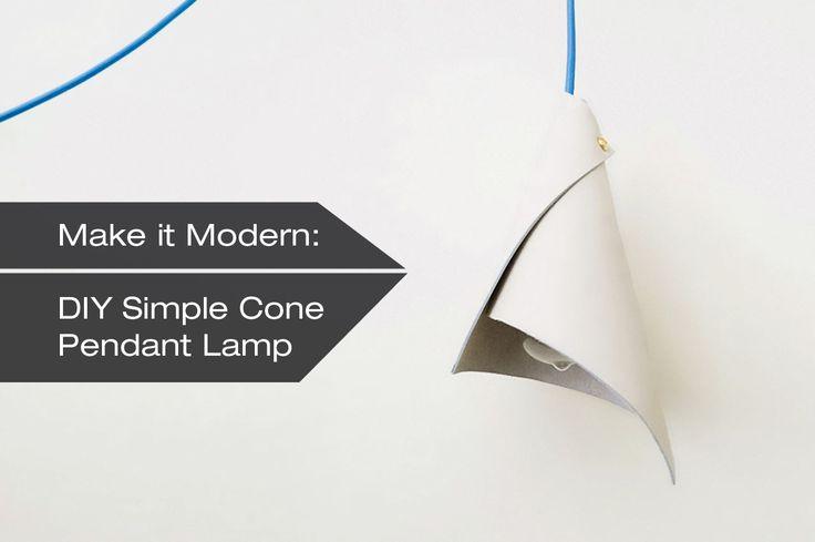 How to Make A DIY Simple Cone Pendant Lamp - Design Milk