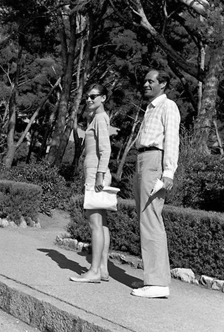 Rare Audrey Hepburn — Audrey Hepburn and her husband Mel Ferrer...