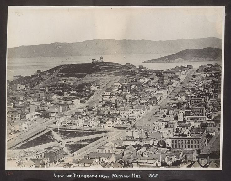 Telegraph Hill in San Francisco, 1865 (Courtesy the Bancroft Library, UC Berkeley)