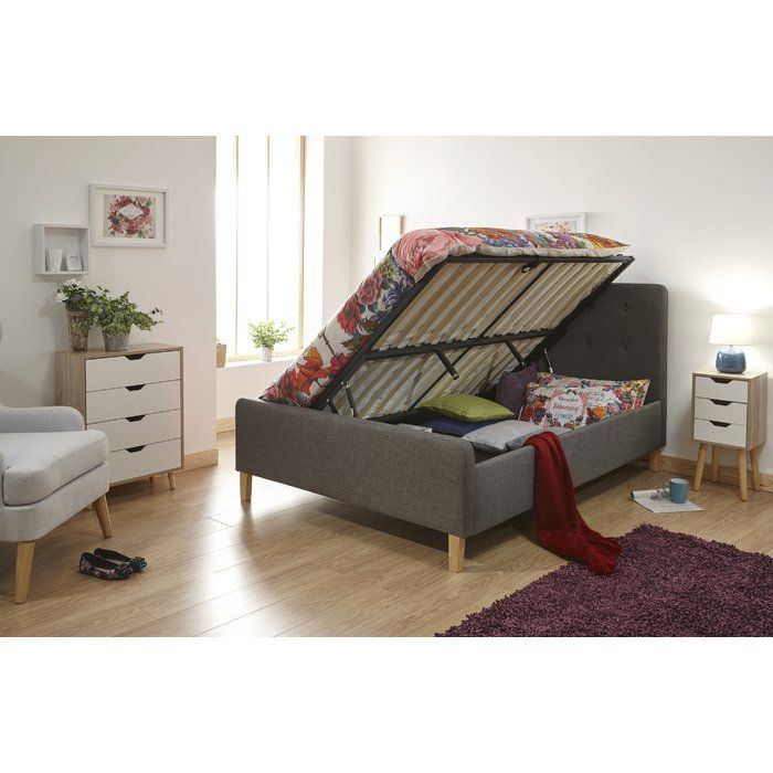Albus Upholstered Ottoman Bed With Images Ottoman Bed