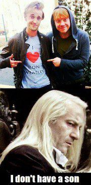 Lol. Draco, your father heard about that! :P