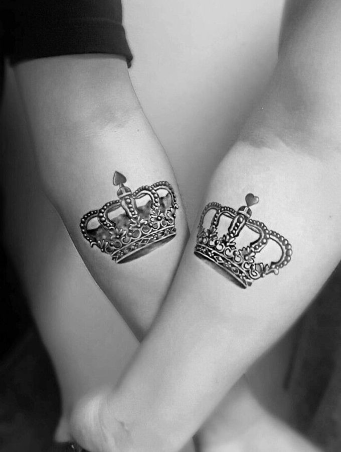 40 Best King Queen Tattoos For Couples In Love Ink Piercings