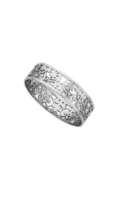 Narrow Filigree Bangle Silver $1219