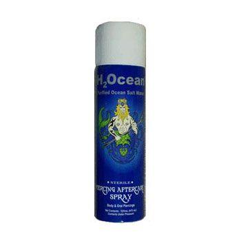 H2Ocean Spray - Body piercing aftercare  - Cleaning & healing solution. Purified ocean salt water (Sea Salt & Lysozyme)