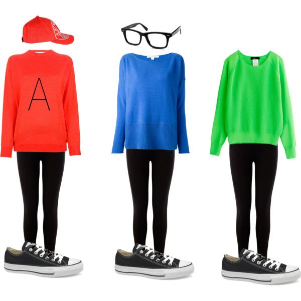 Alvin and The Chipmunks Halloween costume by ayeekaybay on Polyvore featuring STELLA McCARTNEY, Diane Von Furstenberg, Warehouse, Converse and Armani Jeans