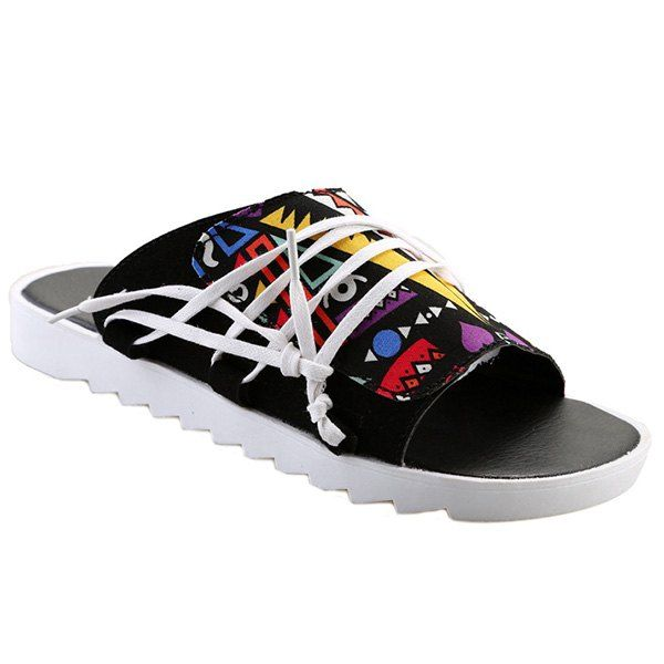 Casual Men's Slippers With Multicolor and Graffiti Pattern Design from 31.96$ by SAMMYDRESS