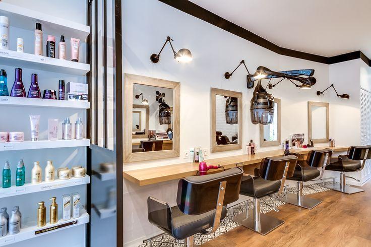 67 best salon de coiffure images on pinterest barber salon hair salons and hair dos - Creation salon de coiffure ...