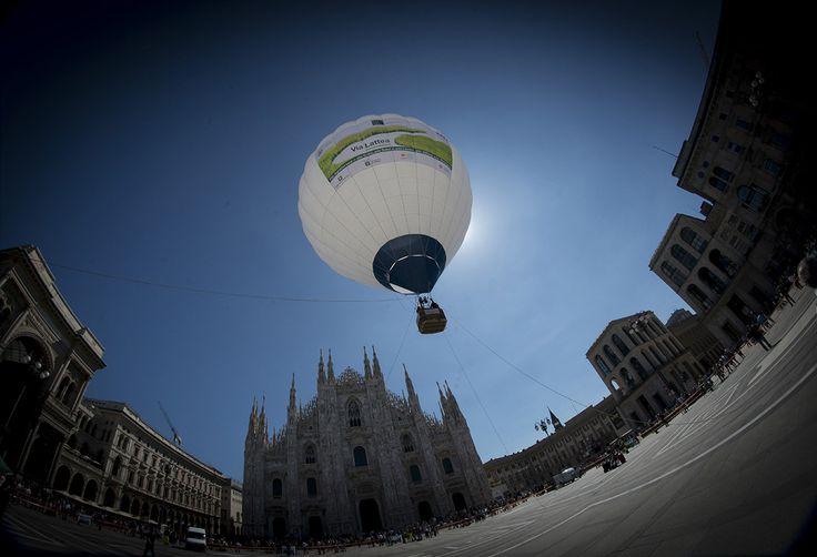 La campagna invade la città: il volo della mongolfiera di Via Lattea  #faivialattea