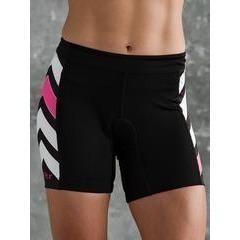Coeur Zele Women's Aero Triathlon Shorts - Pink and Black
