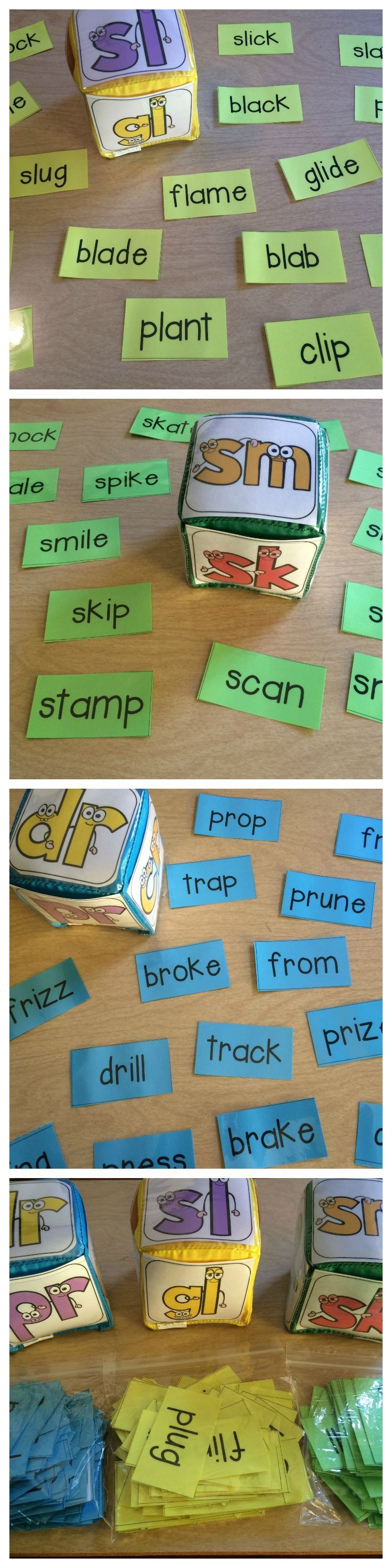 A great way for students to practice reading words with blends.  Includes l blends, r blends, and s blends.  All words are also short vowel or silent e words.