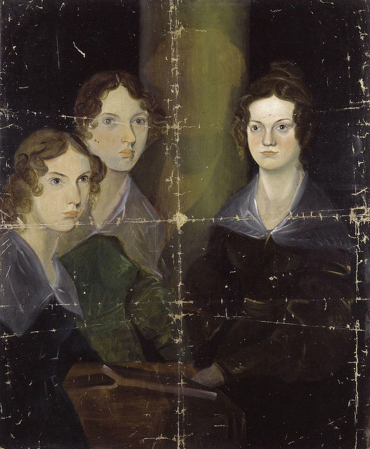"""The Bronte sisters by Branwell Bronte (via Wikimedia Commons) fm """"Searching for the Bronte's Lost Island of Gondal"""" via @BlackBalloonPublishing"""