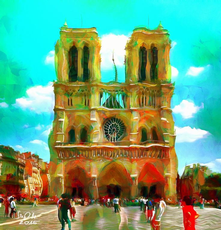 Check out Antonio Gaudi's dream of Notre Dame de Paris by Miklós Szigeti at eagalart.com