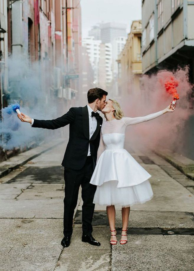 How awesome is this shot featuring brightly coloured smoke?!