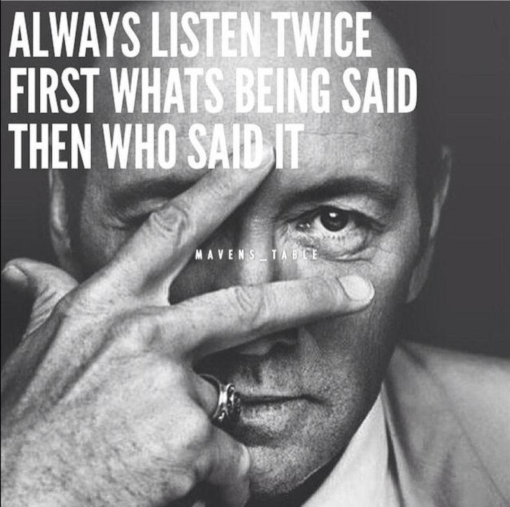 Always listen twice...
