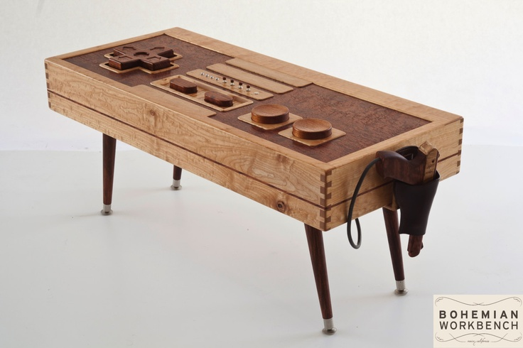 Nintendo Controller Coffee Table (Functional with Zapper) by Bohemian Workbench.
