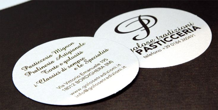 "business card for the pastry ""Golose tradizioni"" by CR OFFICINA"
