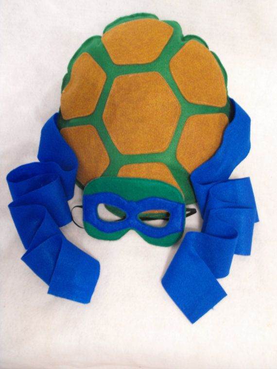 This listing is for one shell and mask. Teenage Mutant Ninja Turtle shells and mask set! Choose your favorite color and COWABUNGA DUDE! Mask is