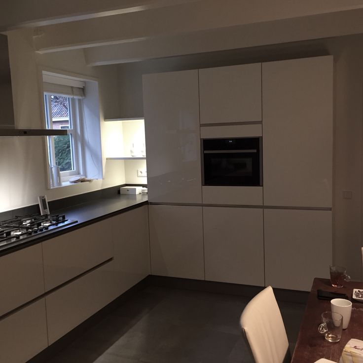 Kleur Muur Hoogglans Witte Keuken : Witte Hoogglans Keuken op Pinterest – Keukens, Witte Keukens en Keuken