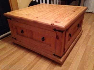 Large Coffee Table With Drawers Large Pine Coffee Table With Deep Drawer For Sale In