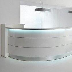 Wooden Reception Desk Cigno Estel Office Line By Group Pinterest Recepcie Stoly A Kancelárie