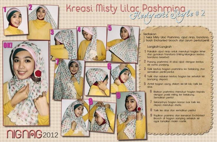 Misty Lilac Pashmina Hedyasti Style #2 - Kreasi Pashmina    www.tuneeca.com